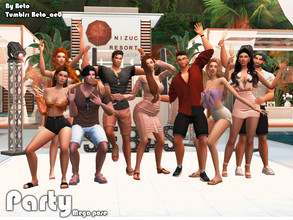 Sims 4 — Party (Mega pose) by Beto_ae0 — A crazy pose to have fun at a party with friends, I hope you like it To use the