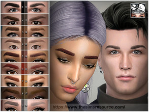 Sims 4 — Eyebrows 19 by BAkalia — Hello :) Eyebrows category 9 colours 2 intensity levels Child to Elder All gender I