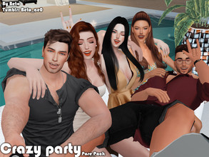 Sims 4 — Crazy party (Pose Pack) by Beto_ae0 — Funny poses for parties, hope you like them To use the poses you need the
