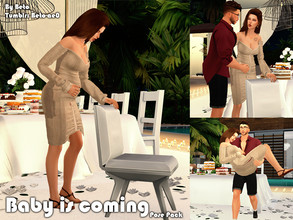 Sims 4 — Baby is coming (Pose Pack) by Beto_ae0 — I hope you like these funny poses To use the poses you need the Mod