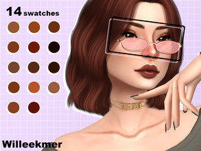 Sims 4 — Coco Moco Eyeshadow by Willeekmer — BGC 14 swatches Teen - Elder Male - Female Custom thumbnail Disallowed for