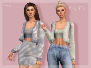 Sims 4 — Rebeca - TP401 by laupipi2 — Enjoy this new rebeca with a top! New custom mesh, all LODs Base game compatible 18
