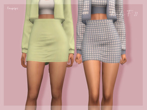 Sims 4 — Skirt - BT403 by laupipi2 — Enjoy this high waisted skirt! Custom mesh, all LODs Base game compatible 16