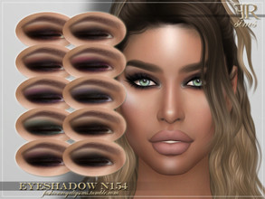 Sims 4 — FRS Eyeshadow N154 by FashionRoyaltySims — Standalone Custom thumbnail 10 color options HQ texture Compatible