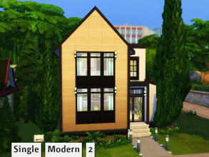 Sims 4 — Single modern 2 by GenkaiHaretsu — Small single house in modern style.