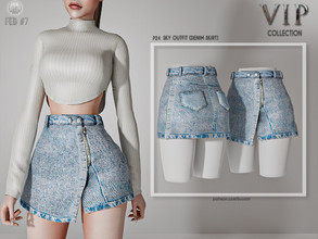 Sims 4 — [PATREON]  (Early Access) Sky Outfit (DENIM SKIRT) P24 by busra-tr — 10 colors Adult-Elder-Teen-Young Adult For