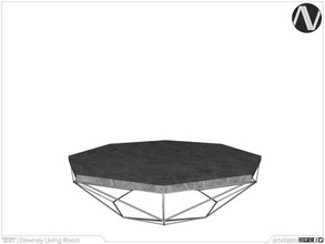 Sims 3 — Downey Coffee Table by ArtVitalex — Living Room Collection | All rights reserved | Belong to 2021 ArtVitalex@TSR