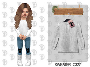 Sims 4 — Sweater C327 by turksimmer — 8 Swatches Works with all of skins Custom Thumbnail All Lods All Maps For; Girl /