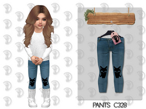 Sims 4 — Pants C328 by turksimmer — 10 Swatches Works with all of skins Custom Thumbnail All Lods All Maps For; Girl /