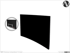 Sims 3 — Florence Wall Television by ArtVitalex — Living Room Collection | All rights reserved | Belong to 2021
