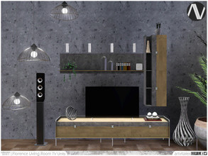Sims 3 — Florence Living Room TV Units by ArtVitalex — Living Room Collection | All rights reserved | Belong to 2021