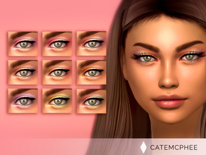 Sims 4 — ES-19 / Rion Shadow  by catemcphee — - 9 swatches - doesn't include the eyeliner! - enjoy <3