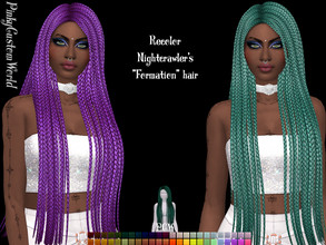 Sims 4 — Recolor of Nightcrawler's Formation hair by PinkyCustomWorld — - Recolor in 48 different colors - Custom