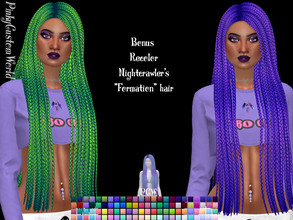 Sims 4 — Bonus recolor of Nightcrawler's Formation hair by PinkyCustomWorld — - Recolor in 96 different colors - Custom