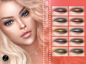 Sims 4 — EYESHADOW Z14 by ZENX — -Base Game -All Age -For Female -16 colors -Works with all of skins -Compatible with HQ