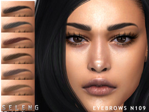 Sims 4 — Eyebrows N109 by Seleng — Female /male 10 colours Custom Thumbnail The picture was taken with HQ mod Happy
