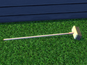 Sims 4 — Up The Garden Path Broom by seimar8 — Outdoor garden broom. Part of Up The Garden Path set. Base Game