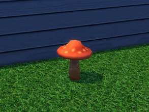 Sims 4 — Up The Garden Path Mushroom by seimar8 — Red Garden Mushroom. Part of Up The Garden Path set. University