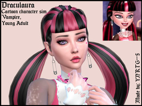 Sims 4 — Draculaura by YNRTG-S — I'm continuing my Monster High sim series, and this time I'm introducing you the