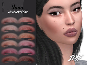 Sims 4 — IMF Yuna Eyeshadow N.187 by IzzieMcFire — Yuna Eyeshadow N.187 contains 12 colors in hq texture. Standalone item