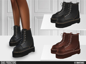 Sims 4 — ShakeProductions 633 - Leather Boots by ShakeProductions — Shoes/Boots New Mesh All LODs Handpainted 12 Colors