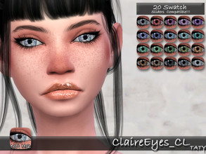 Sims 4 — [Ts4]Taty_ClaireEyes_CL by tatygagg — - Female, Male - Human, Alien - Toddler to Elder - Hq Compatible - Sliders