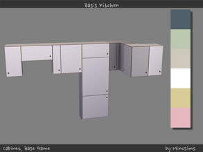 Sims 4 — Basis Cabinet by Mincsims — 6 swatches All pieces were supported.