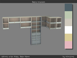 Sims 4 — Basis Cabinet with Glass by Mincsims — 6 swatches All pieces were supported.