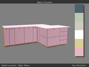 Sims 4 — Basis Island Counter by Mincsims — 6 swatches All pieces were supported.
