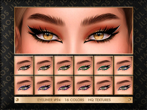 Sims 4 — JUL_HAOS [COSMETICS] EYELINER #94 by Jul_Haos — - CATEGORY: EYELINER - COLORS: 16 - GENDER - FEMALE - HQ