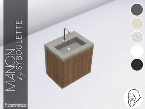 Sims 4 — Manon kitchen - Sink by Syboubou — Seamless sink to blend with the Manon kitchen top counters.