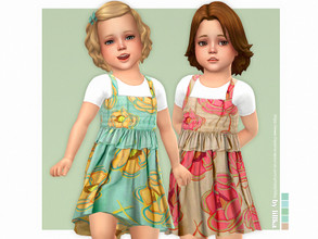 Sims 4 — Gloria Dress  by lillka — Gloria Dress for Toddler Girls 5 swatches Base game compatible Custom thumbnail Hair