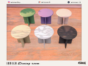 Sims 4 — Indigo Dining table by Winner9 — Dining table from my Indigo set, you can find it easy in your game by typing