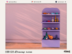 Sims 4 — Indigo Shelf by Winner9 — Shelf from my Indigo set, you can find it easy in your game by typing Winner9 or