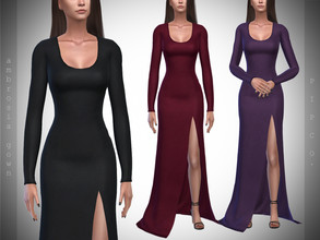 Sims 4 — Pipco - Ambrosia Gown. by Pipco — 10 Swatches Base Game Compatible New Mesh All Lods Specular and Normal Maps