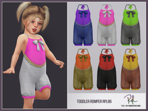 Sims 4 — Toddler Romper RPL86 by RobertaPLobo — :: 6 swatches :: All lods :: Sub Part Type: Jumpsuits :: Custom thumbnail