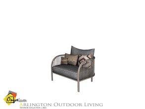 Sims 4 — Arlington Sofa Single by Onyxium — Onyxium@TSR Design Workshop Outdoor And Garden Collection | Belong To The