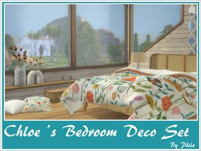 Sims 4 — Chloe's Bedroom Deco Set [Meshes required] by philo — This set consists of 6 refurbished matching items.