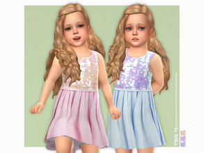 Sims 4 — Miriam Dress by lillka — Miriam Dress for Toddler Girls 3 swatches Base game compatible Custom thumbnail Hair by