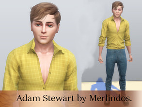 Sims 4 — Adam Stewart by merlindos2 — Description: Created for: The Sims 4 Name: Adam Stewart Age : Young Adult *