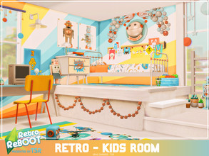 Sims 4 — Retro ReBOOT - Retro Kids room by Mini_Simmer — Room type: Kids room Size: 6x5 Price: $7,981 Wall Height: Short