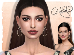 Sims 4 — Anne Hathaway by Jolea — This is my Celebrity inspired Anne Hathaway, hope you'll like it. If you want the Sim
