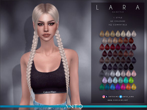 Sims 4 — Anto - Lara (Hairstyle) by Anto — Two braids for sims