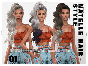 Sims 4 — LeahLillith Natelle Hairstyle (PATREON) by Leah_Lillith — Natelle Hairstyle All LODs Smooth bones Custom CAS