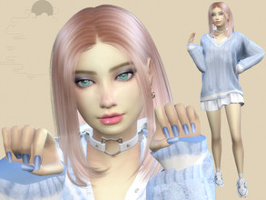 Sims 4 — Candy Smith by Killari — Name: Candy Smith Age: Young Adult Aspiration: Friend of the World Traits: Outgoing,