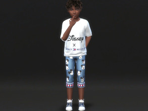 Sims 4 — Disney X Tommy Hilfiger trousers for children 2 by Aldaria — Disney X Tommy Hilfiger trousers for children