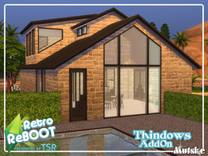 Sims 4 — Retro ReBOOT Thindows AddOn Part 2 by Mutske — Set of windows, doors and Arches that matches the Thindows