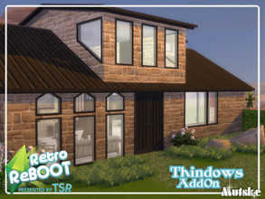 Sims 4 — Retro ReBOOT Thindows AddOn Part 1 by Mutske — Set of windows, doors and Arches that matches the Thindows