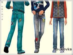 Sims 4 —  Denim Male by bukovka — Jeans for children, only for boys. Installed stand-alone, suitable for the base game. 6