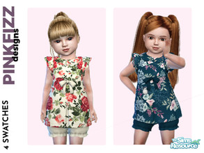 Sims 4 — Toddler Spring Dress by Pinkfizzzzz — This little dress is all ready for the coming Spring wardrobes everyone